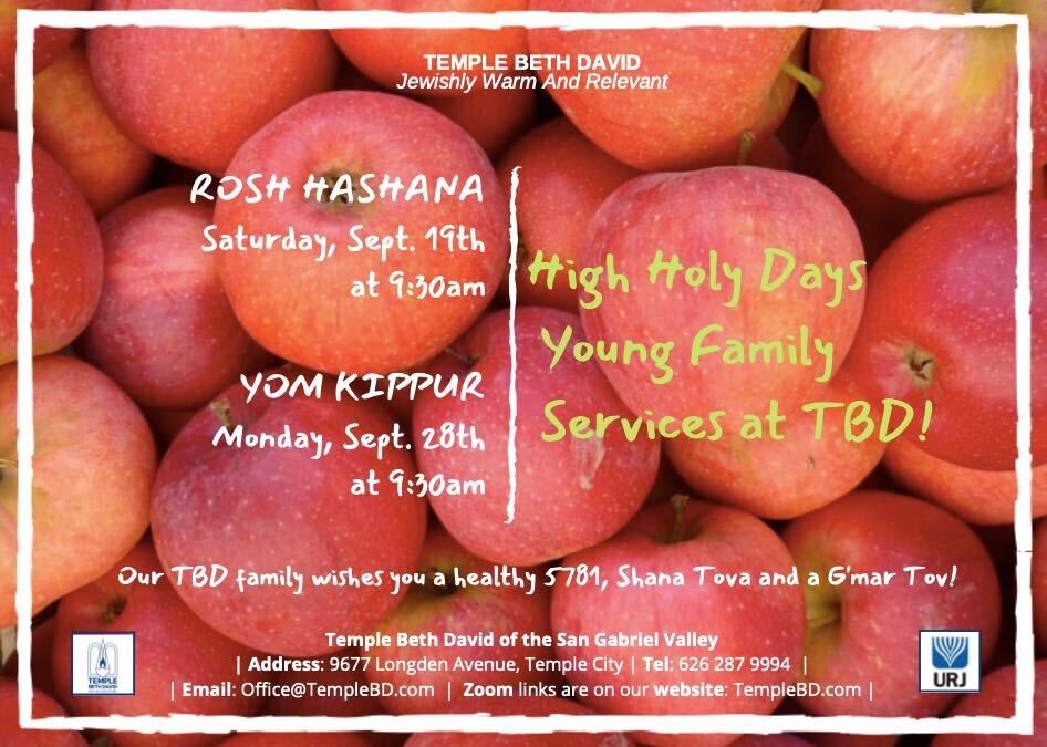 temple beth david jewish synagogue high holy day family services