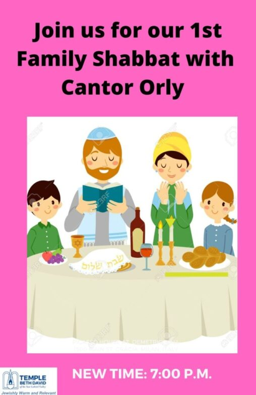 Click the flyer to join Cantor Orly for our special family Shabbat service 7:00 p.m.