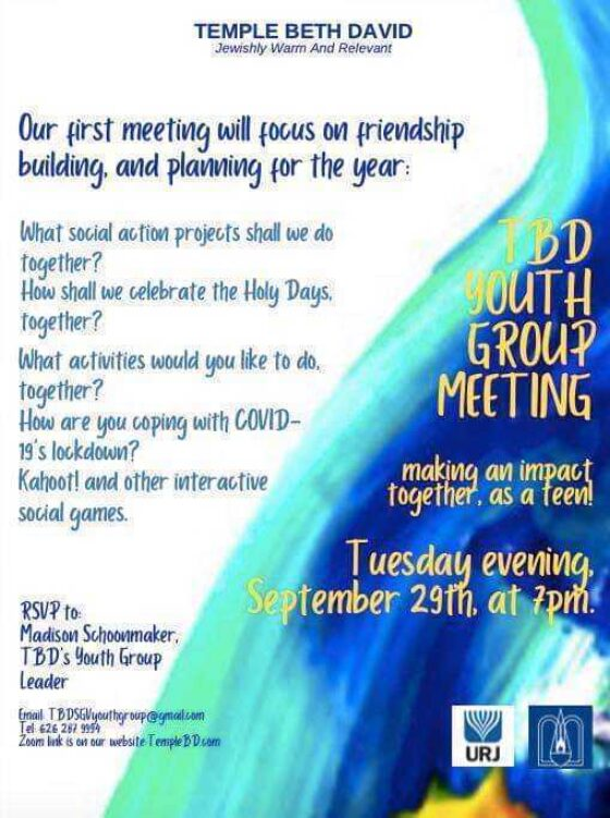 temple beth david youth group friendship building